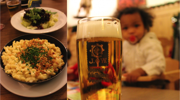 I love käsespätzle and Papa loves beer. Perfect combo.