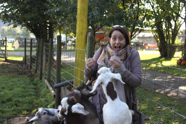 Mama was very popular with the goats